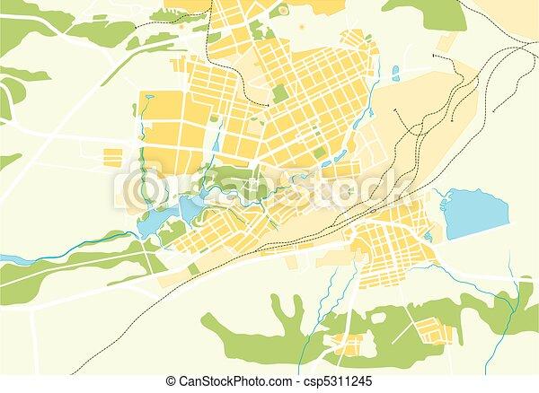 Vector Geo Map of The City - csp5311245