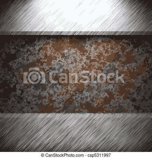 aluminum and rusty metal plate  - csp5311997