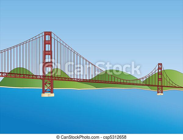 golden gate bridge in San Francisco - csp5312658