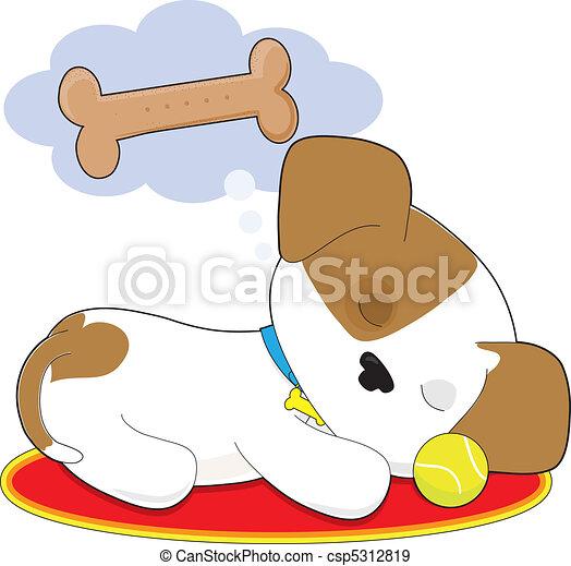 Cute Puppy Dreaming - csp5312819