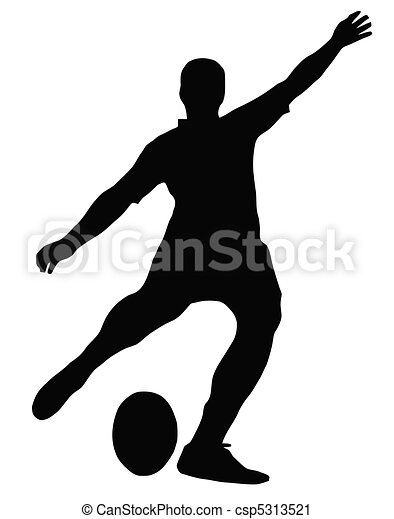 Sport Silhouette - Rugby Football Kicker - csp5313521