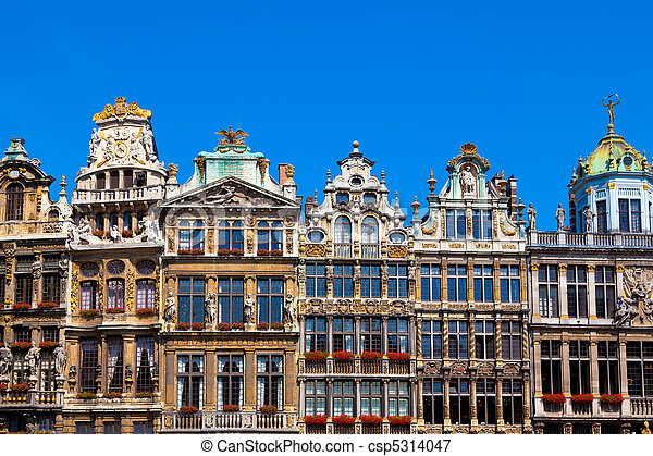 Grand Place, Brussels. - csp5314047