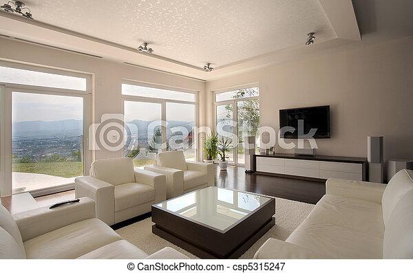 bilder von inneneinrichtung haus modern haus inneneinrichtung csp5315247 suchen sie. Black Bedroom Furniture Sets. Home Design Ideas