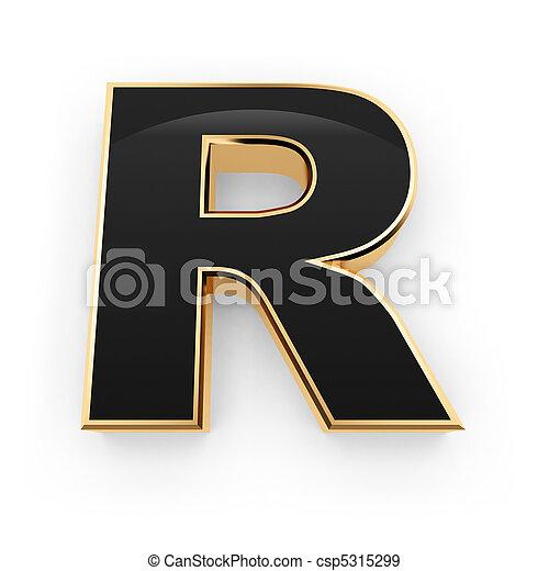 Metal letter R - csp5315299