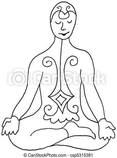 Asana Art - Half Lotus - csp5315381