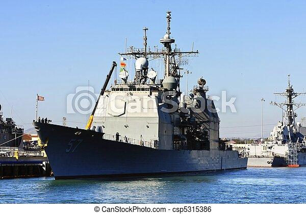 US Navy Battle Ship - csp5315386