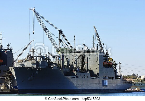 US Navy Battle Ship - csp5315393