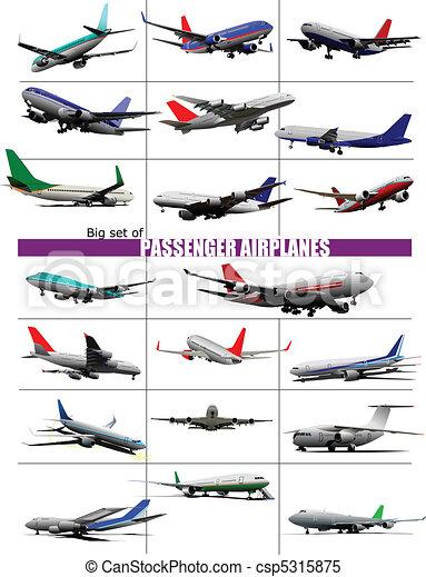 Big set of twenty passenger Airpla - csp5315875