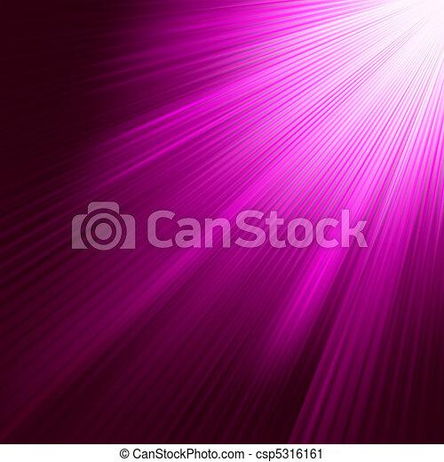 Purple luminous rays. EPS 8 - csp5316161