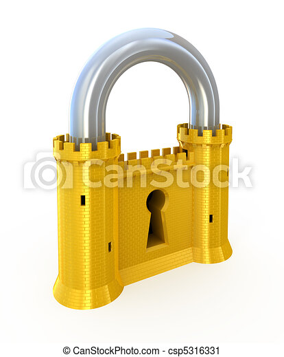 Padlock as fortress - csp5316331