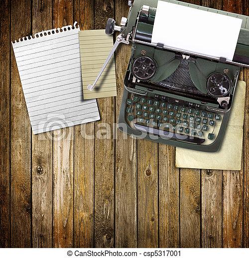 Old vintage typewriter stock  Vintage Typewriter Paper Photography