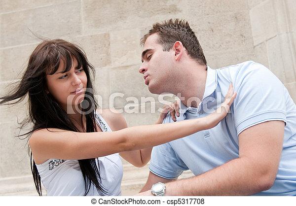 problemas de la relación, pareja, -, joven, aire libre - csp5317708