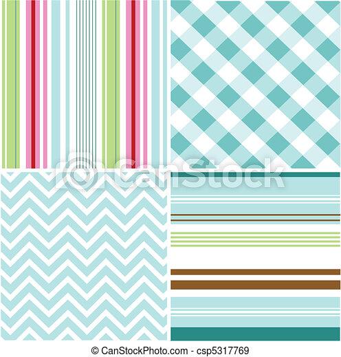 seamless patterns, fabric texture - csp5317769
