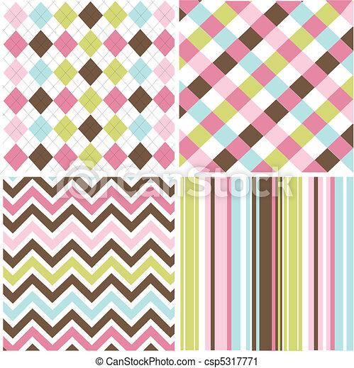 seamless patterns, fabric texture - csp5317771