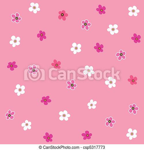 Seamless pink flower plaid pattern - csp5317773