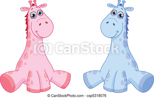 Clip Art Vector of Baby giraffes csp5318076 - Search Clipart ...