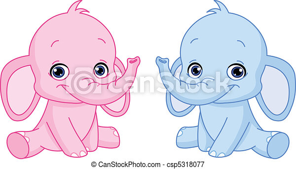 Baby elephants - csp5318077