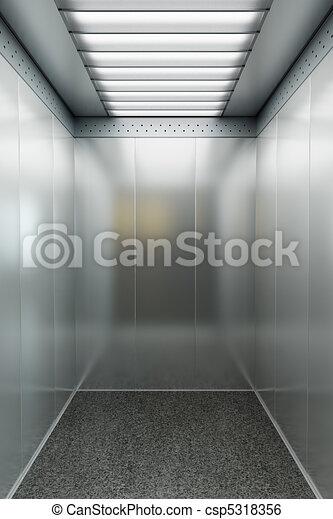 modern elevator 3d render - csp5318356