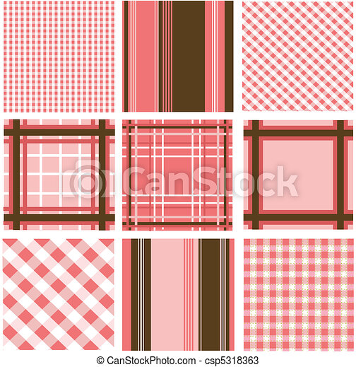 seamless patterns fabric texture - csp5318363