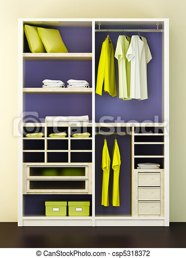 ... closet 3d... csp5318372 - Search Clipart, Illustration, Drawings, and