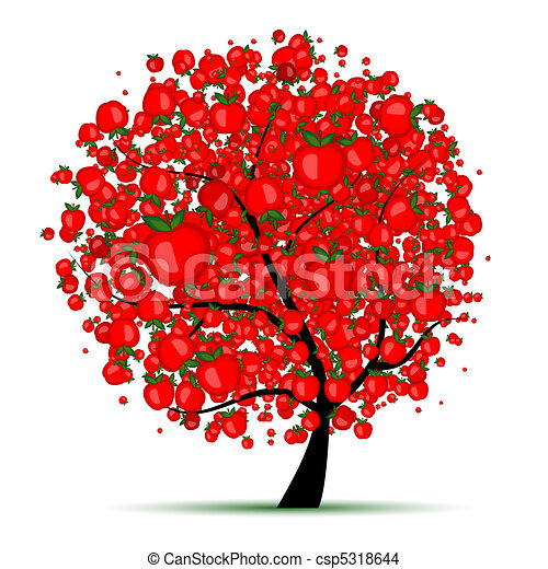 Energy apple tree for your design - csp5318644