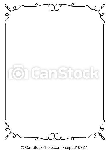 decorative frame - csp5318927