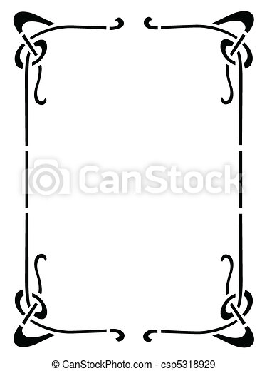 decorative frame - csp5318929