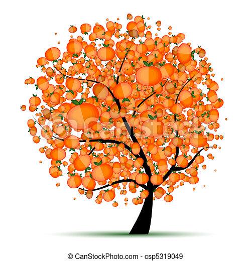 Energy citrus tree for your design  - csp5319049