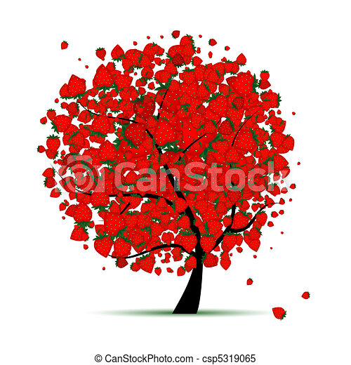 Energy strawberry tree for your design  - csp5319065