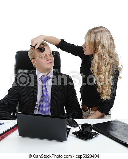 Stock foto van secretaresse make up baas secretaresse doen make up csp5320404 zoek - Secretaresse witte ...
