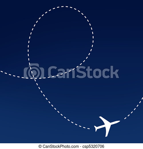 Airplane route - csp5320706