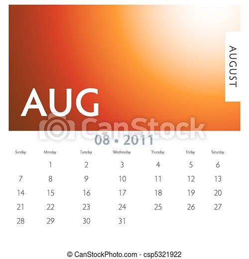 August Calendar - csp5321922