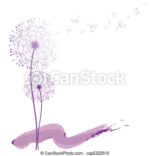 Abstract dandelion in the wind - csp5322510