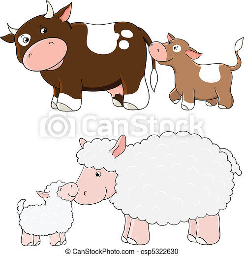 Vector farm animals - csp5322630