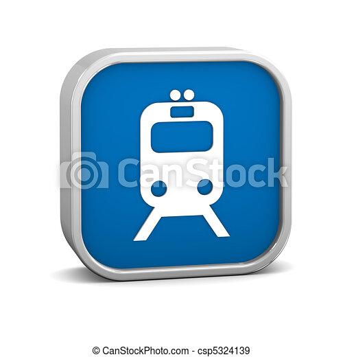 Rail transportation sign - csp5324139