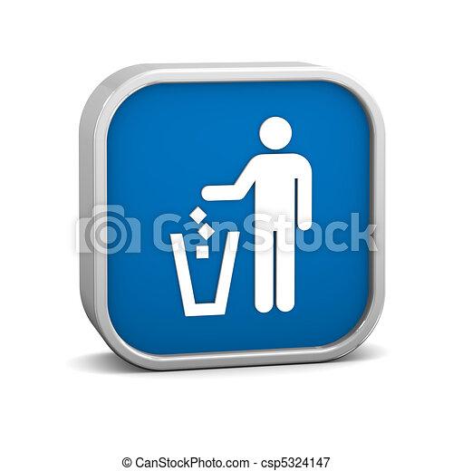 Litter Disposal Sign - csp5324147