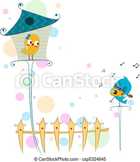 Lovebird Serenade - csp5324645
