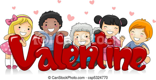 Stock Illustration of Multicultural Valentine - Illustration of ...