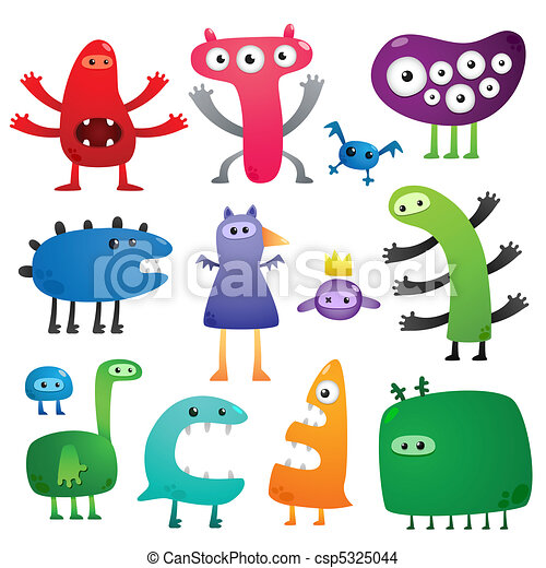 Funny monsters - csp5325044