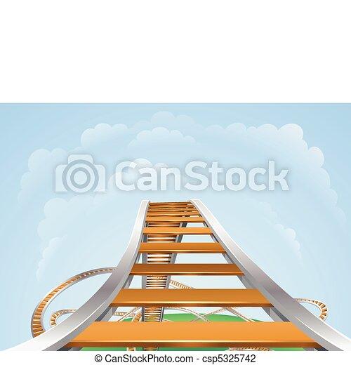 Roller coaster - csp5325742