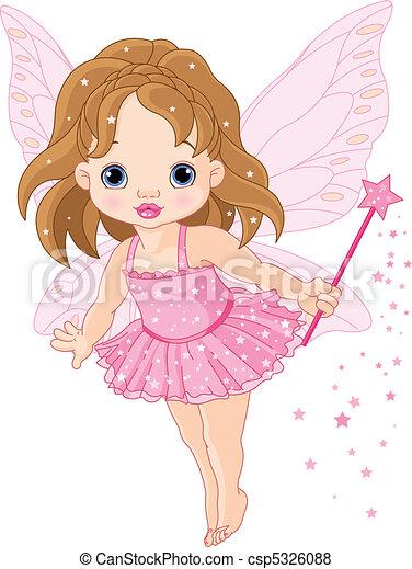 Cute little baby fairy - csp5326088