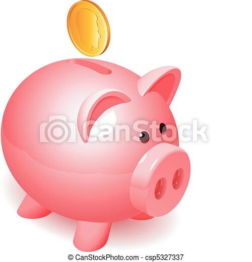 Piggy bank. - csp5327337