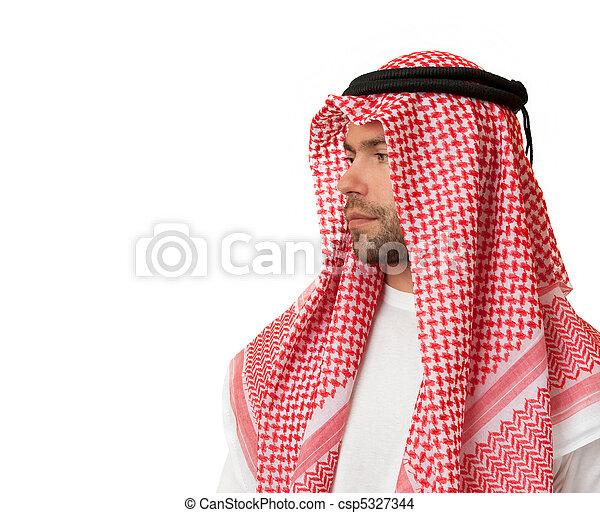 coiffure, arabe, homme - csp5327344