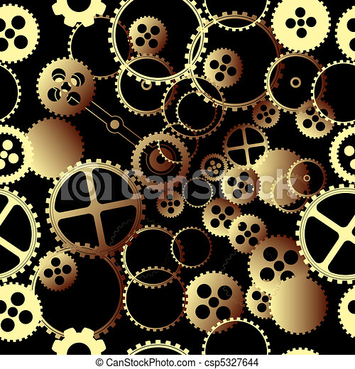 Clockwork gears pattern - csp5327644