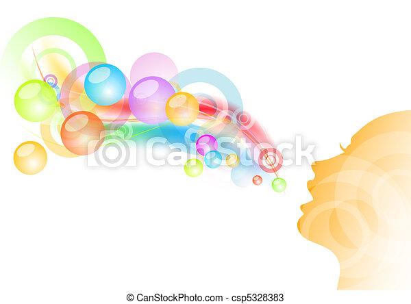 bubble gum - csp5328383