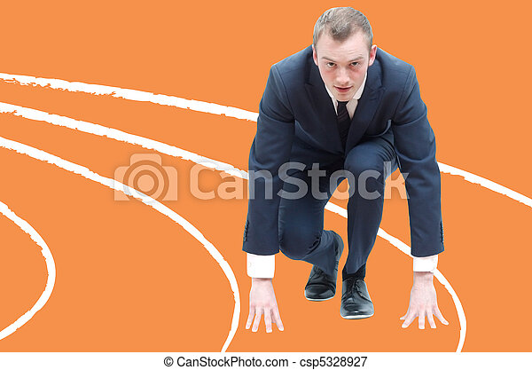 Competitive business man - csp5328927