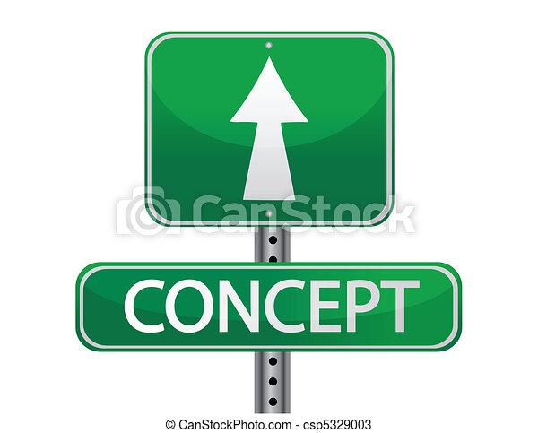 Concept street sign - csp5329003