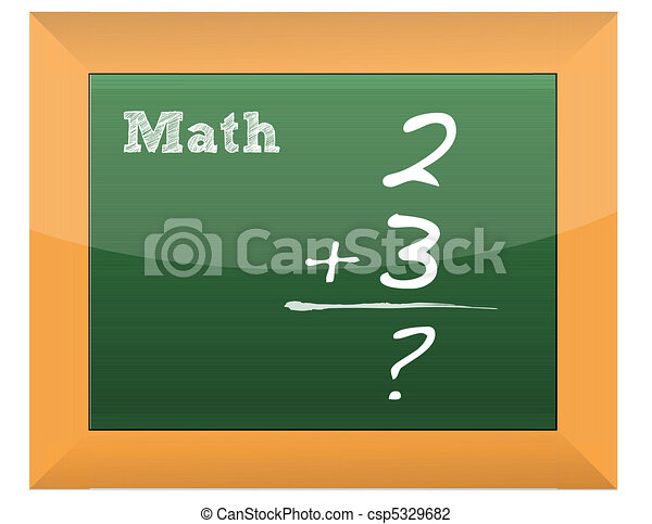 Simple math formula  - csp5329682