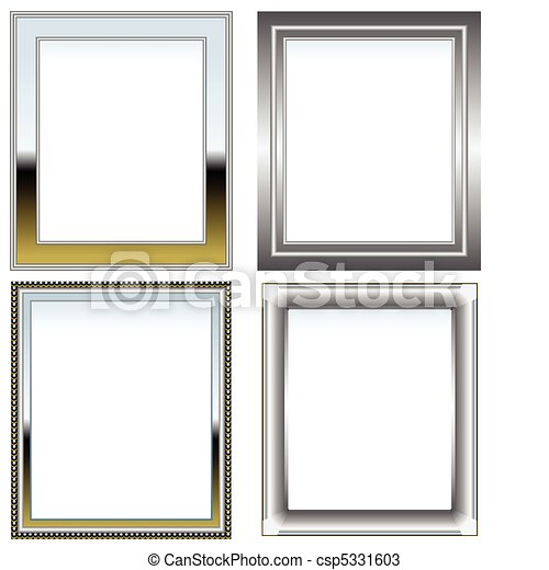Silver and chrome frames - csp5331603