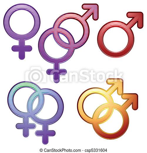Sexuality symbols - csp5331604